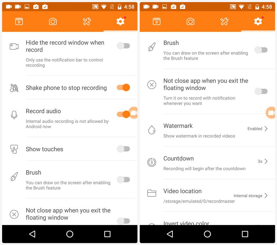 android screen recorder with audio apk