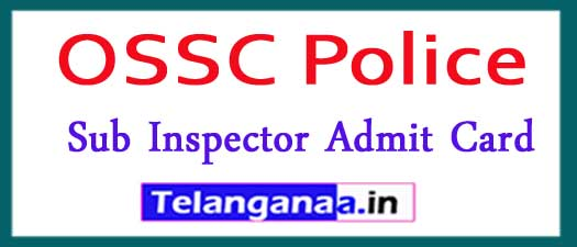 OSSC Police Sub Inspector Admit Card 2018 Download