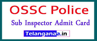 OSSC Police Sub Inspector Admit Card 2017 Download