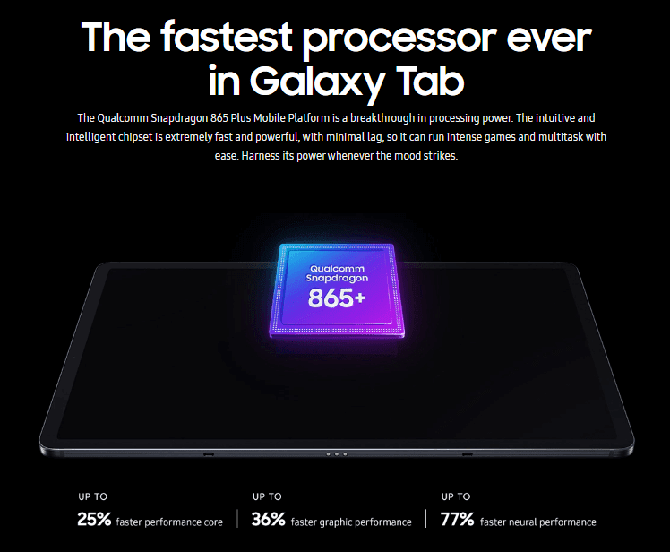 Galaxy Tab S7 Series Processor