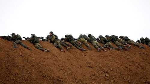 Israeli soldiers on the Gaza border (Photo: REUTERS / Mohammed Salem)