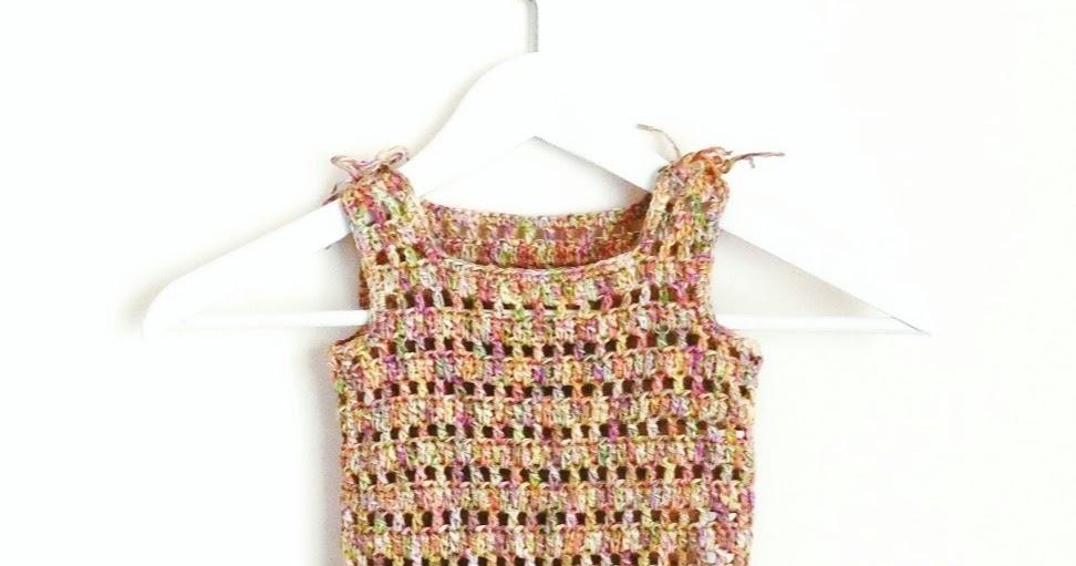 Vestido Para Niñas A Crochet Y Tela Ahuyama Crochet