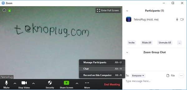 bagaimana cara memakai aplikasi zoom meeting untuk chat