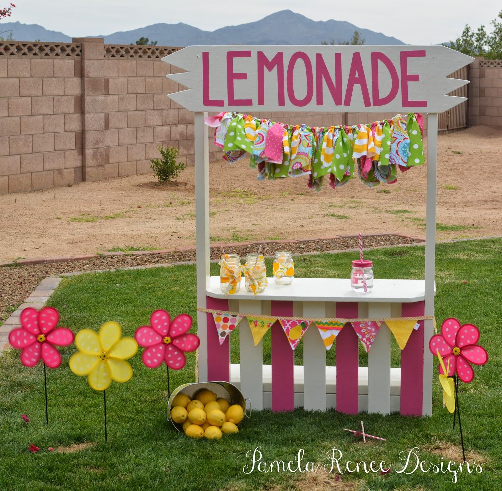 Pamela Renee Designs: Pink Lemonade Themed Birthday Party