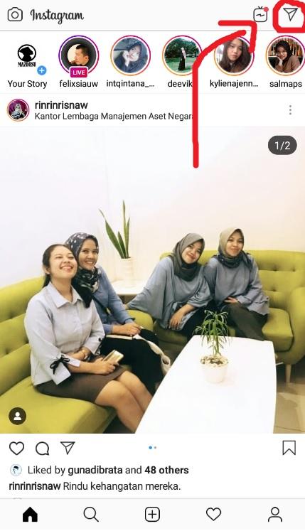 Masuk ke Menu Chat Instagram