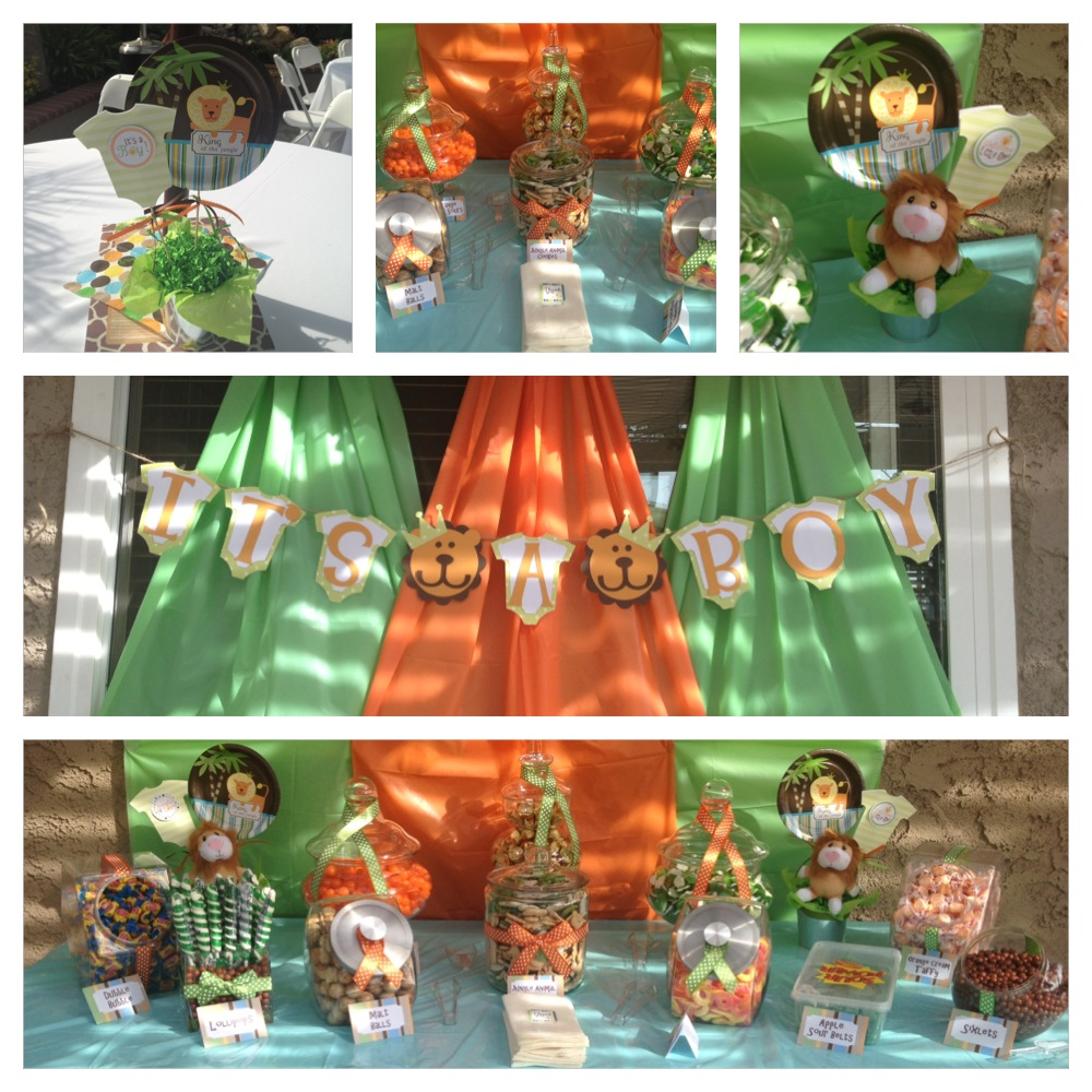 King Of The Jungle Baby Shower Centerpiece Ideas | www ...