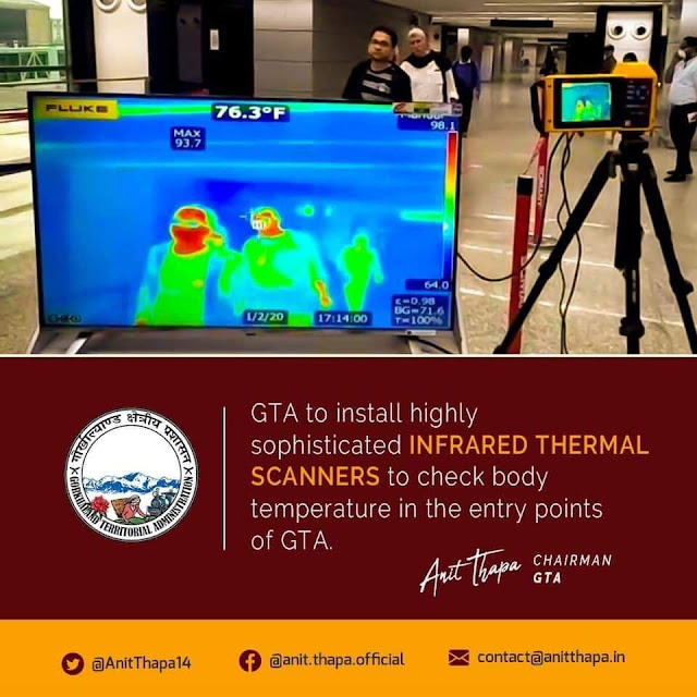 GTA  announced to  install infrared thermal scanners
