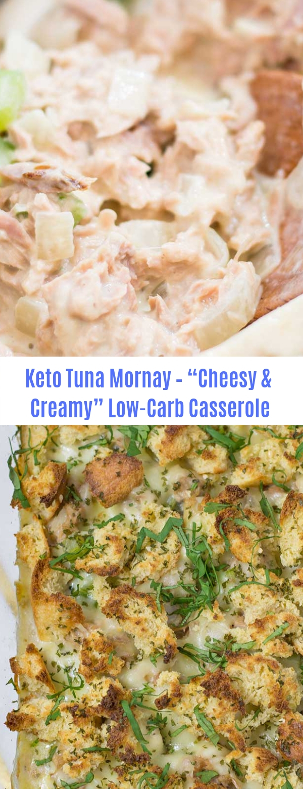 "Keto Tuna Mornay - A Low Carb ""Cheesy & Creamy"" One Pan Casserole"