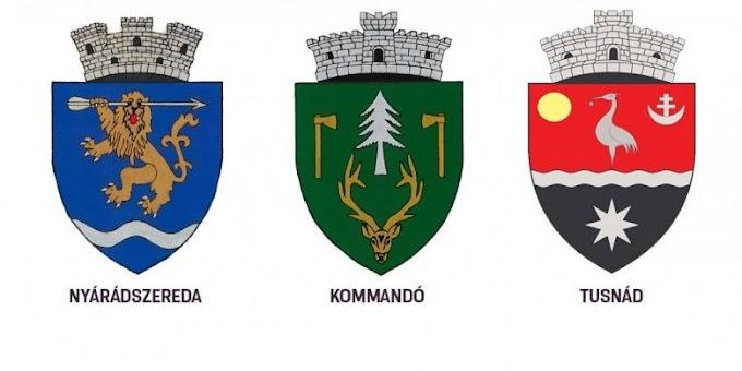 Elfogadta a kormány Nyárádszereda, Kommandó és Tusnád címereit
