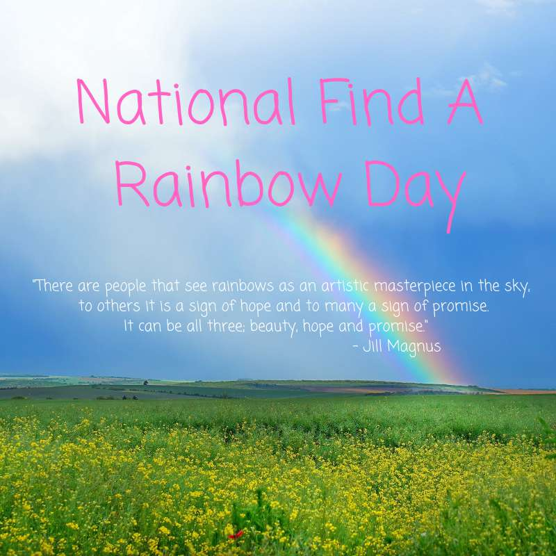 National Find a Rainbow Day Wishes Images download