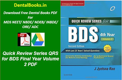 Quick Review Series QRS for BDS Final Year Volume 2 PDF