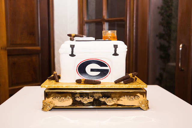 georgia groom wedding cake