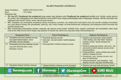 Silabus Prakarya SMP Kelas 7 Kurikulum 2013 Revisi Terbaru