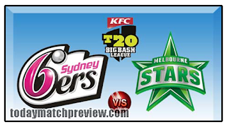 Today BBL 2018-19 10th Match Prediction Sydney Sixer vs Melbourne Star