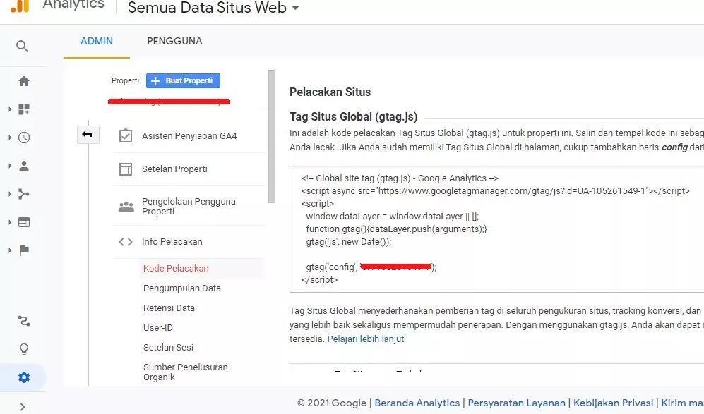 Kode Pelacakan Google Analytics Gtag.js