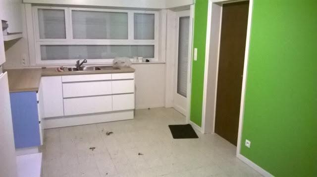 Oude keuken voor verbouwing