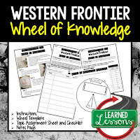 Western Frontier, American History Activity, American History Interactive Notebook, American History Wheel of Knowledge