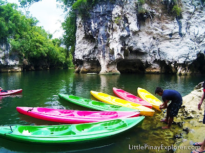 colorful kayak in a river bantay kalikasan