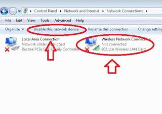 Cara Mengatasi wireless atau Wifi pada Laptop yang Silang Merah
