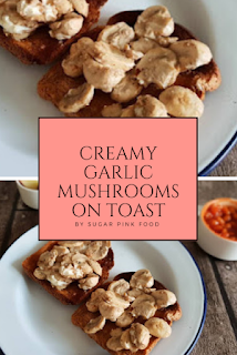 creamy garlic mushrooms on toast recipe