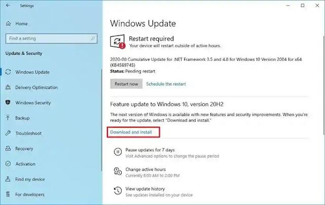 ما الجديد في تحديث ويندوز 10 القادم في أكتوبر 2020 -   Windows 10 Update