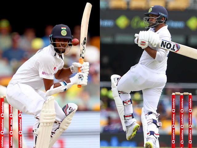 शार्दुल ठाकुर और वाशिंगटन सुंदर की बल्लेबाजी ने मैच में बनायी पकड़ ।