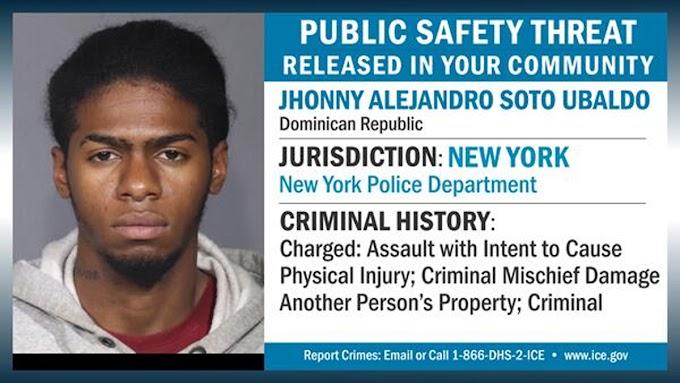 Dominicano ilegal preso que había sido liberado 10 veces declarado por ICE amenaza para la seguridad pública