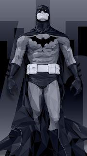 Batman Low Poly Mobile HD Wallpaper