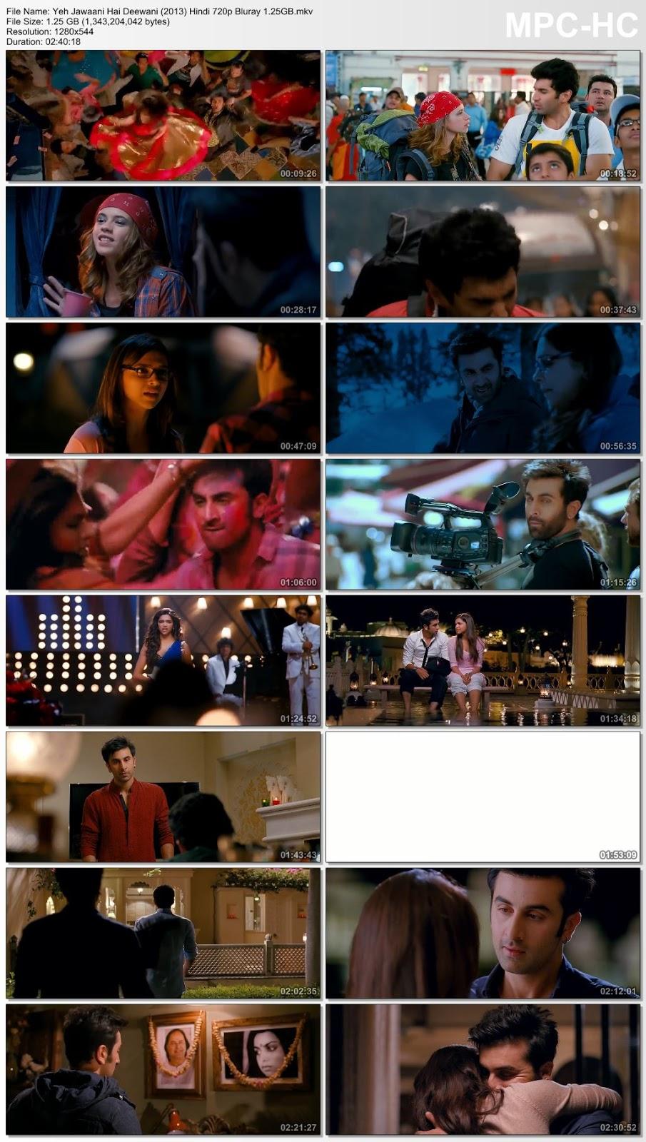 Yeh Jawaani Hai Deewani (2013) 720p Bluray ESubs 1.25GB Desirehub