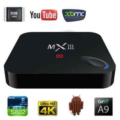 Android Tivi Box MXIII 4K RAM 1GB giá rẻ