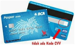 Kode CVV Kartu BCA GPN