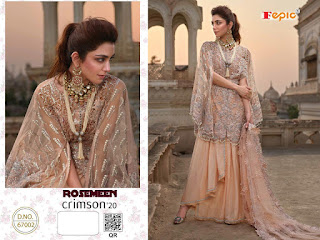 Fepic Rosemeen Crimson 20 Georgette Salwar Kameez