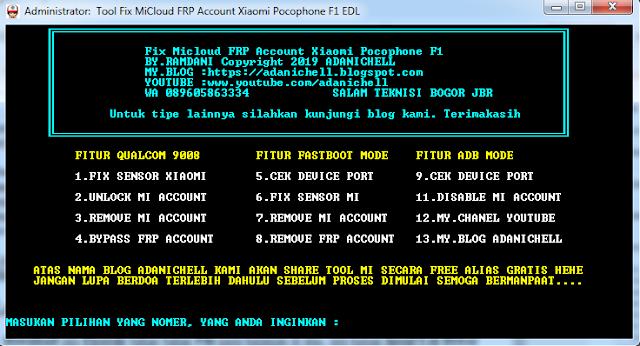 Fix Micloud FRP Account Xiaomi Pocophone F1