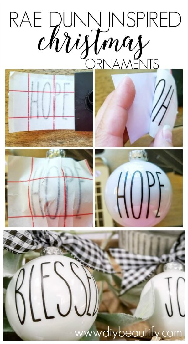 how to make Rae Dunn ornaments