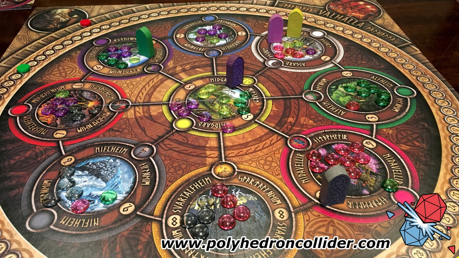nine worlds viking board game review