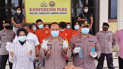 Satuan polres Tanjab barat kembali Menggungkap Peredaran Narkoba di Kuala Tungkal