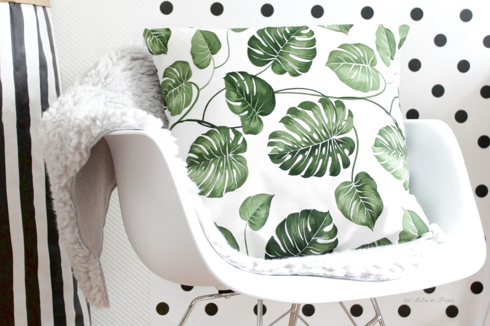 DIY kussen met botanische print  365 Miles to Paris