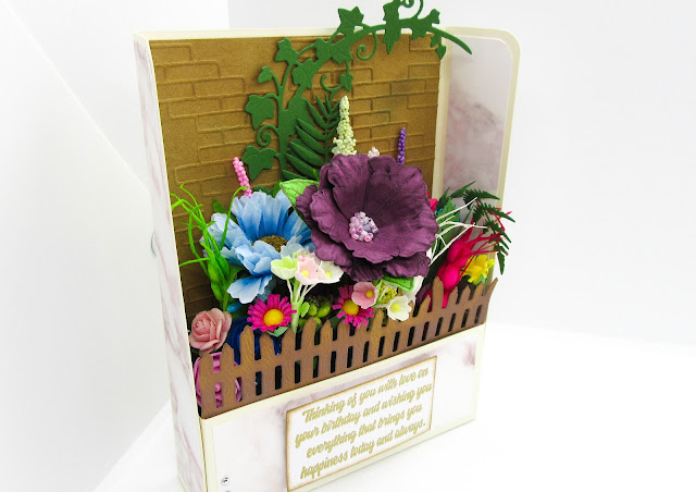 Flower Garden card in one