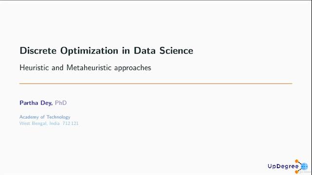 Discrete Optimization Data Science Heuristic & Metaheuristic