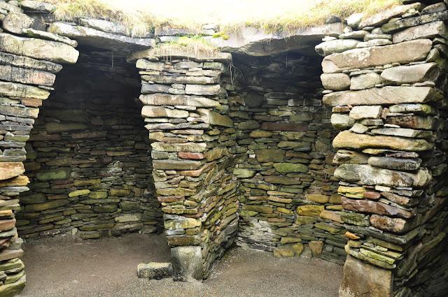 wielokulturowe stanowisko archeologiczne w Jarlshof, Szetlandy - wheelhouse
