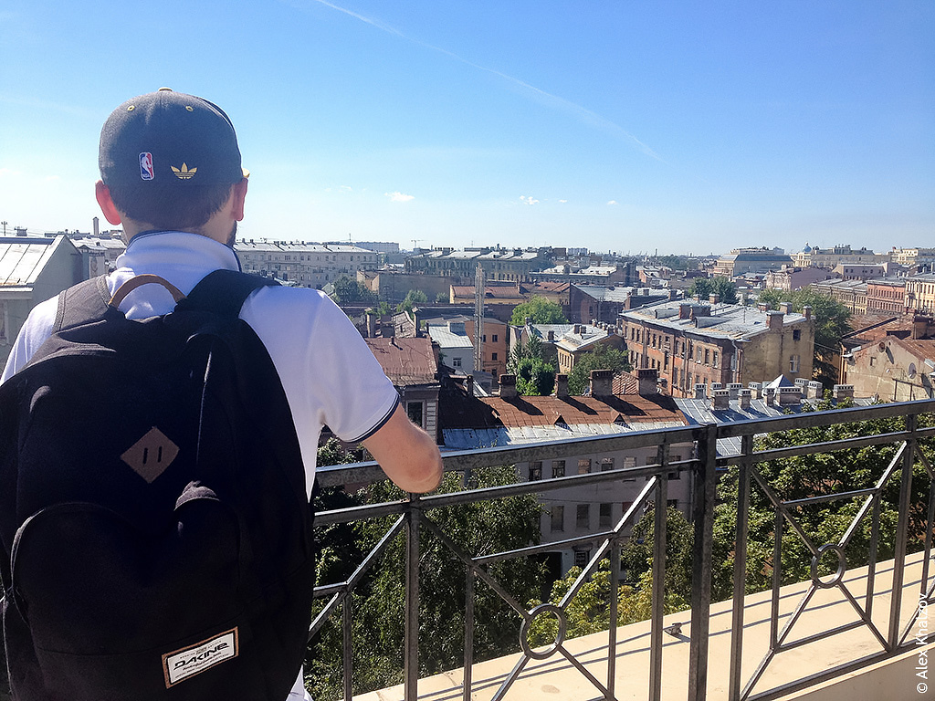 Я на крыше в Питере