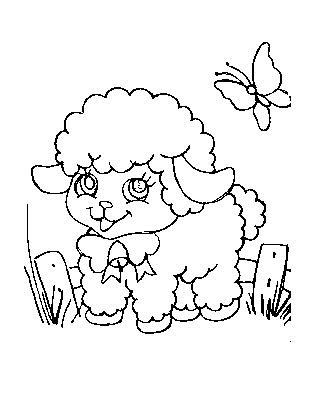 risco de ovelhinha para pintar em tecido