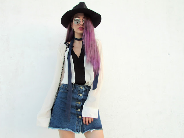 denim skirt outfit pinterest