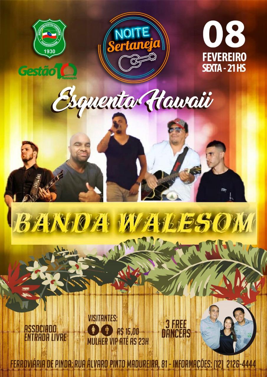 Sexta-feira 8 de fevereiro tem Esquenta Hawaii na Ferroviária de  Pindamonhangaba c94c4a31a314e