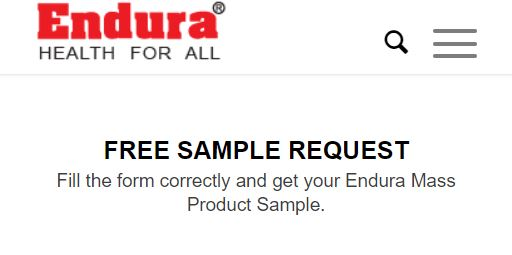 (Freebie) Get A Free Sample Of Endura Mass Weight Gainer