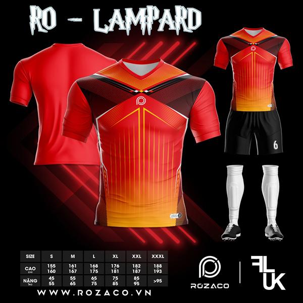 Áo Không Logo Rozaco RO-LAMPARD Màu Đỏ