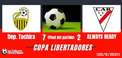 DEPORTIVO TACHIRA VS ALWAYS READY
