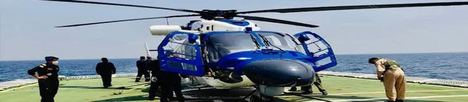 Navy Gets 3 Indigenously-Built Advanced Light Helicopters DHRUV MK-III