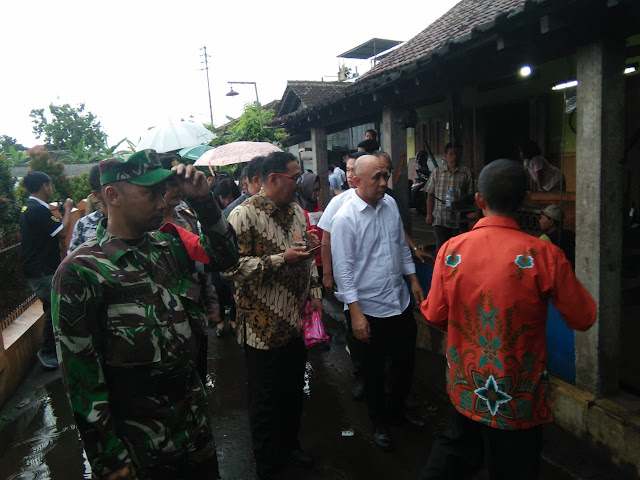 Danramil Jatinom Dampingi Kunjungan Kerja Menteri Koprasi Dan UKM Ke Wilayah Jatinom