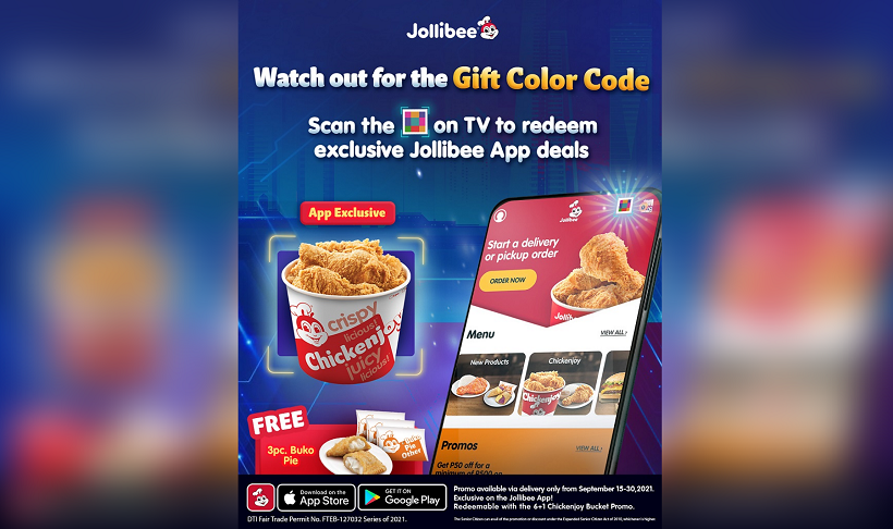 Jollibee launches Gift Color Code for an exclusive free offer